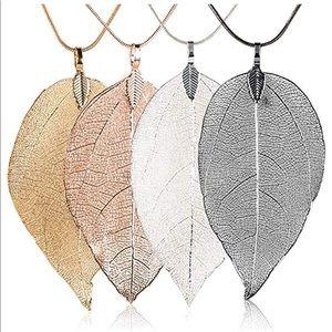 Gorgeous Bohi Handmade Real Leaf Necklace